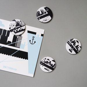 Magneten Rotterdam Stationery in set van 4 afbeeldingen ANNIdesign