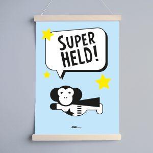 Poster Superheld Aap Kinderkamer ANNIdesign