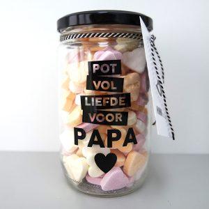 Pot Papa, een pot vol liefde voor papa van ANNIdesign