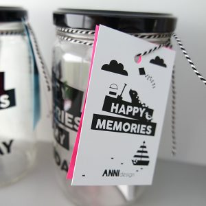 Pot Happy Memories of my Holiday met label ANNIdesign
