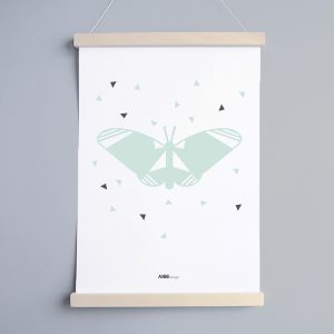 Poster Vlinder Woonkamer in 2 formaten ANNIdesign