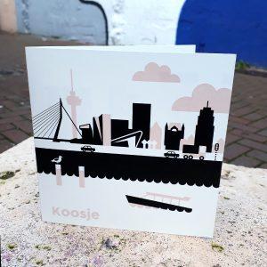 Geboortekaart Rotterdam oud roze ANNIdesign_01