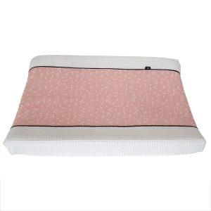 Aankleedhoes triangel roze Babykamer_Wafelstof helderwit_ANNIdesign_01
