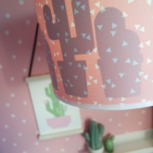 Lamp silhout Cactus triangel roze ANNIdesign sfeer 01