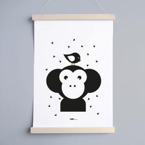 Poster Apenkop Babykamer ANNIdesign