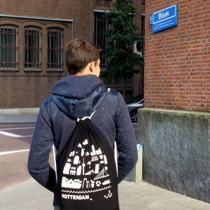 Rugtas Rotterdam zwart Blaak ANNIdesign