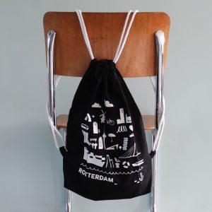 Rugtas Rotterdam zwart ANNIdesign