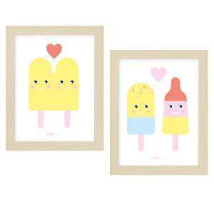 Poster set IJsjes Kinderkamer 15 x 20 ANNIdesign