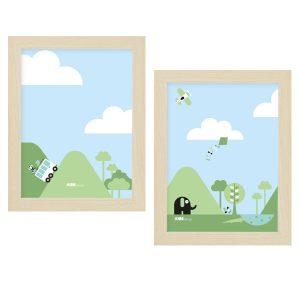 Poster set Reis Kinderkamer 15 x 20 ANNIdesign