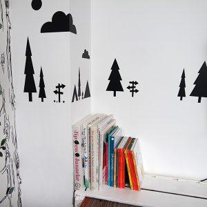 Muursticker set Kamperen voor op de muur ANNIdesign