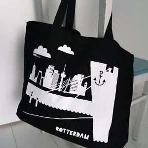 Tas Rottedam shopper in zwart ANNIdesign