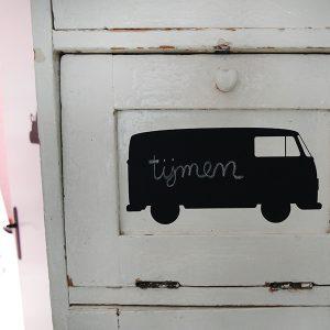 Krijtsticker Bus klein op kast ANNIdsign