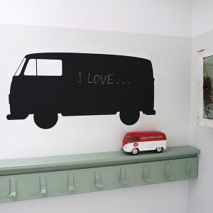 Krijtsticker Busje groot ANNIdesign op de muur