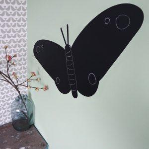 Krijtsticker Vlinder groot ANNIdesign om op te tekenen
