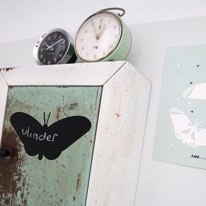 Krijtsticker Vlinder klein ANNIdesign