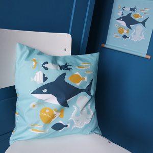 Kussen Onderwater blauw ANNIdesign 01