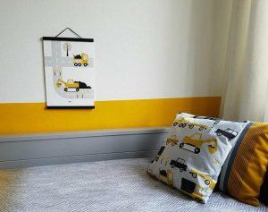 Kinderkamer met Voertuigen oker ANNIdesign