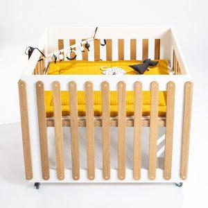 Boxkleed Wafelstof reversible oker geel ANNIdesign_Box Gaaf Ukkepuk