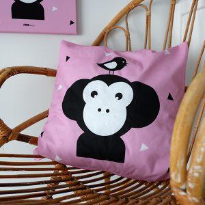 Kussen Apenkop roze ANNIdesign 03