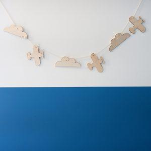 Houten slinger Vliegtuig aaqn wit koord ANNIdesign 01