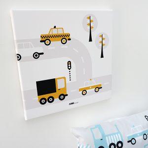 Canvas schilderij Voertuigen Auto oker ANNIdesign 01