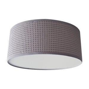 Plafondlamp Wafelstof poedergrijs Bi & Li Creaties