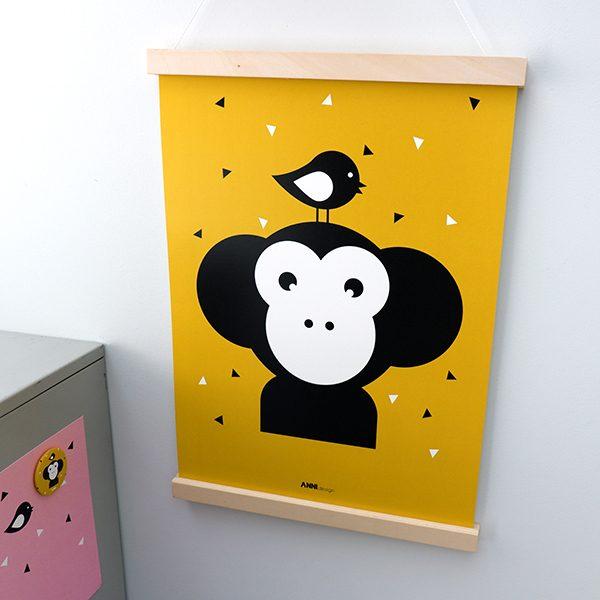 Poster Apenkop oker ANNIdesign