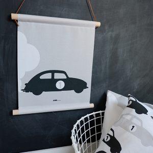 Textielposter Auto #1 grijs ANNIdesign 01
