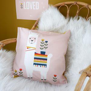Kussen Lama roze ANNIdesign voorkant