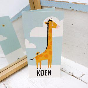 Geboortekaart Giraf ANNIdesign voorkant