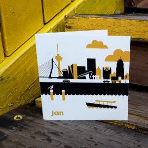 Geboortekaart Rotterdam oker geel ANNIdesign_01