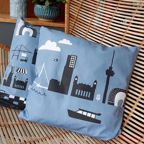 Kussen Rotterdam Jeans blauw ANNIdesign 01