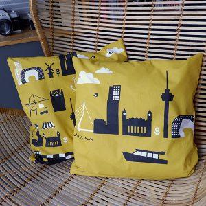 Kussen Rotterdam oker geel ANNIdesign 01